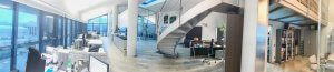 panoramic view of modern london office design