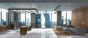 glass office building decorating