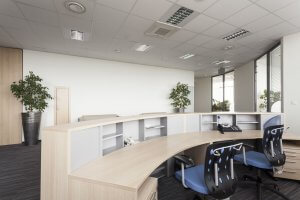 reception desk in a modern office, interior