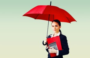 Umbrella Office Worker